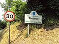 Shotwick sign and speed limit - DSC06444.JPG