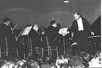 Shura Cherkassky - Shura Cherkassky with the Israel Philharmonic Orchestra in Tel Aviv, 1954