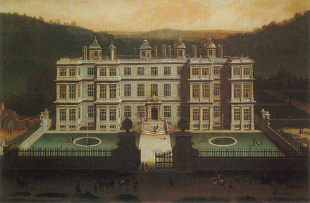 Longleat House, which he inherited aged 4; painting by Jan Siberechts, 1675 Siberechts-ViewovLongleat.jpg