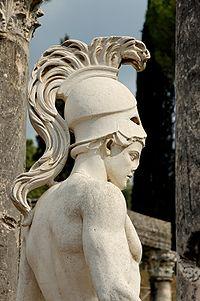 Statue of the god Mars outside the Villa Adriana