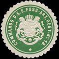 Siegelmarke Commando d.K.S. Fuss-Artillerie Regiments Nr. 12 W0370654.jpg