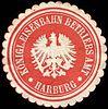 Siegelmarke Königliche Eisenbahn Betriebs Amt - Harburg W0216824.jpg