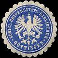 Siegelmarke Königliche Universitäts - Bibliothek - Göttingen W0239821.jpg