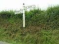 Sign above Treburgett - geograph.org.uk - 513515.jpg