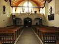 Sillé-le-Guillaume (Sarthe) église, intérieur, nef et tribune.jpg