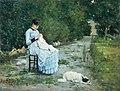 Silvestro Lega, In giardino, 1883.jpg