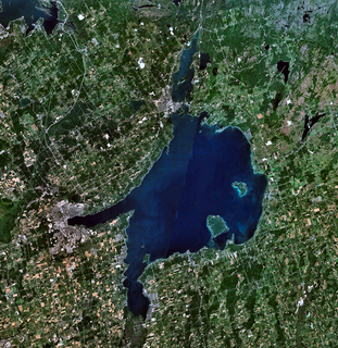 Lake Simcoe lake in Ontario, Canada