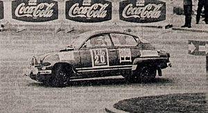 Simo Lampinen - Lampinen drives a Saab Sport at the 1965 1000 Lakes