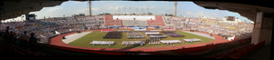 Singapore Youth Festival - Panoramic view of the proceedings of the Singapore Youth Festival 2006 Opening Ceremony from the grandstand of the National Stadium.