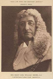 Sir William Moore, 1st Baronet British politician