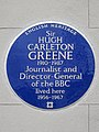 Sir HUGH CARELTON GREENE 1910-1987 Journalist and Director-General of the BBC lived here 1956-1967.jpg