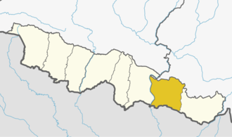 Siraha District - Siraha (yellow) in Province 2, Nepal