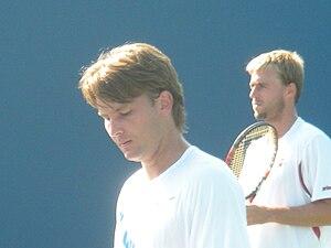 David Škoch - Škoch (front) and doubles partner Oliver Marach (back)