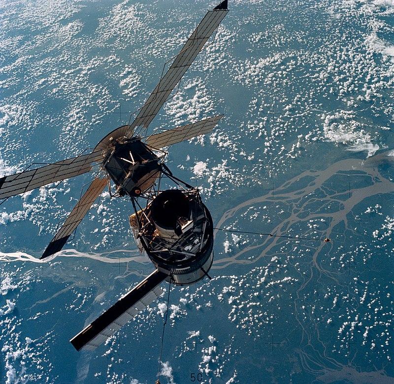 Skylab vue lors de l'arrivée de Skylab 3 - credits : NASA