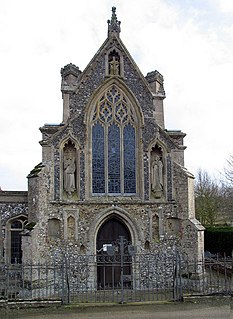 Basilica of Our Lady of Walsingham Church in Houghton Saint Giles, England