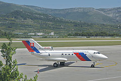 Jak-40 należący do Slovak Government Flying Service