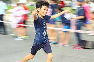 Terry Fox Run - A happy moment at the TFR 2014 in Ho Chi Minh City, Vietnam (2014)