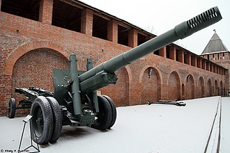 "152 mm howitzer-gun M1937 (ML-20) - ML-20 in museum ""The Smolensk Region in the years of Great Patriotic War"", Smolensk."