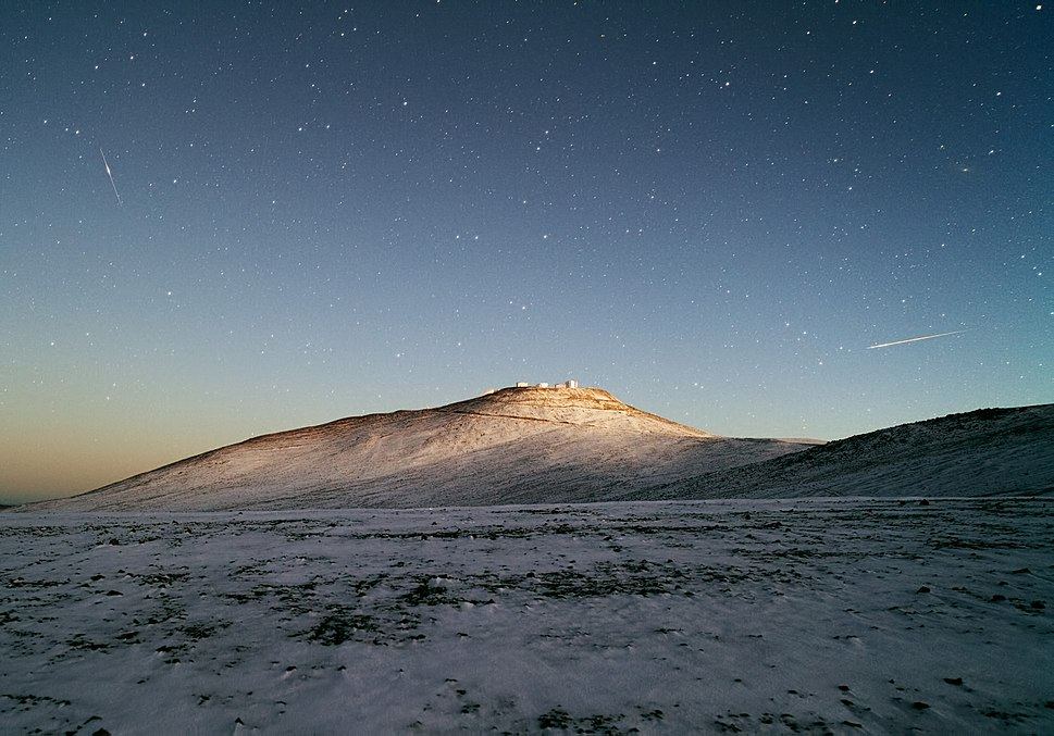 Snow at Paranal Observatory