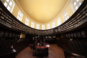 Academic library - The interior of Sofia University's main library.