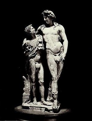 Ampelos - Bacchus e Ampelus (Uffizi, Florence)