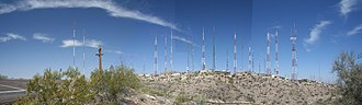 South Mountains (Arizona) - South Mountain radio and television towers