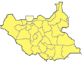 South Sudan location map, 2015 province borders.png