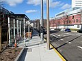 Southbound route 39 bus stop at VA Medical Center, March 2016.JPG