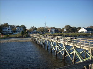 Southport, North Carolina - A view of Southport from the fishing pier
