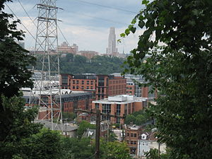 SouthSide Works - View of the SouthSide Works from the South Side slopes
