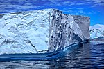 Spectacular Christmas morning cruise through the remants of giant Tabular iceberg B15Y, which is now grounded just off Bransfield Island at the N tip of the Antarctic Peninsula. (25974201506).jpg