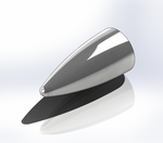 Spherically Blunted Tangent Ogive Nose Cone Render.png