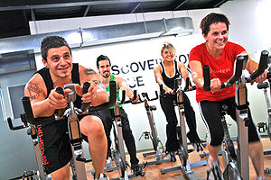 Spin Cycle Indoor Cycling Class at a Gym.JPG