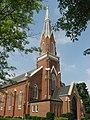 St. Paul's Church in Sharpsburg, tower from base.jpg