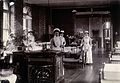 St Bartholomew's Hospital, London; nurses in a ward. Photogr Wellcome V0028973.jpg
