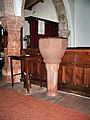 St Kentigern's Church, Castle Sowerby , Font - geograph.org.uk - 558935.jpg