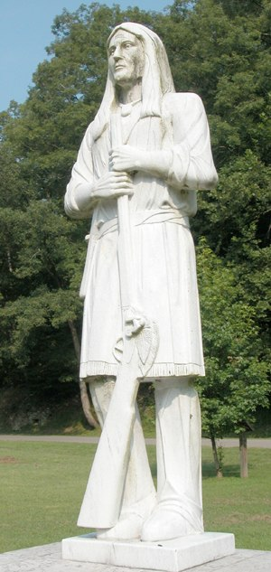 Mingo - Statue of Logan, a famous Mingo leader, in Logan, West Virginia