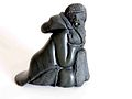 Statue of Inuit elder, carved in serpentine by Silas Kayakjuak.jpg