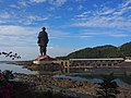 Statue of Unity - View from the other bank of Narmada.jpg