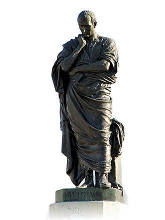 Ovid - Statue (1887) by Ettore Ferrari commemorating Ovid's exile in Tomis (present-day Constanța, Romania)