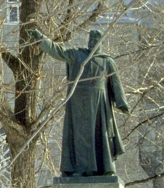 Saint-Jérôme, Quebec - Priest Labelle statue.