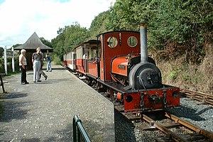 Launceston Steam Railway - Image: Steam Engine at Newmills geograph.org.uk 1193294