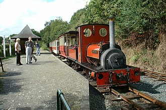 Launceston Steam Railway - Image: Steam Engine at Newmills geograph.org.uk 1193294