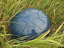 Steel tongue drum laying on the grass.jpg