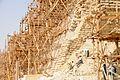 Step Pyramid of Djoser at Saqqara under renovation - panoramio (1).jpg