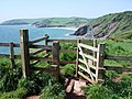 Stile above Sharkham Point, Brixham - geograph.org.uk - 806808.jpg