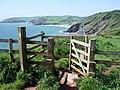 Stile above Sharkham Point, Brixham - geograph.org.uk - 806808.jpg