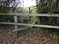 Stile and dodgy bridge over ditch (geograph 5214656).jpg