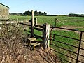 Stile and footpath at Langton by Spilsby - geograph.org.uk - 554601.jpg