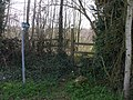 Stile and footpath sign, near Old Bishton - geograph.org.uk - 1764229.jpg
